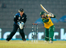 Mignon du Preez drives on her way to a half-century, New Zealand v South Africa, Women's World T20, Group A, Sylhet, March 31, 2014