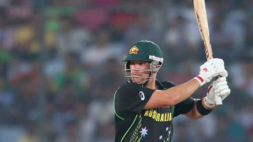 Aaron Finch cuts during his 71