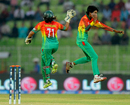 Panna Ghosh is pumped up after taking a wicket, Bangladesh Women v Sri Lanka Women, Women's World T20, Group B, Sylhet, April 1, 2014
