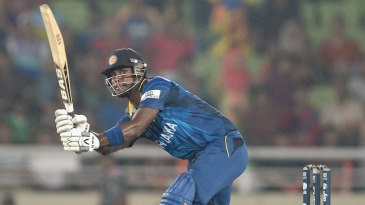 Angelo Mathews scored 40 off 23 balls