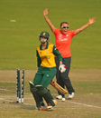 Dane van Niekerk: one of South Africa's five run-out victims, England v South Africa, Women's World T20, semi-finals, Mirpur, April 4, 2014