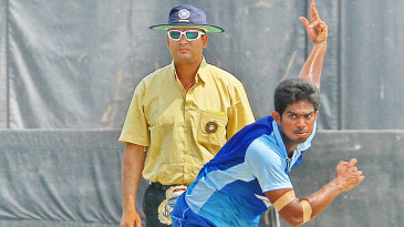 Andhra's D Shivkumar finished with outstanding figures of 4 for 6