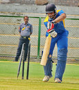 Hanuma Vihari loses his off stump to D Shivkumar, Andhra v Hyderabad, Syed Mushtaq Ali Trophy, Vizianagaram, April 4, 2014