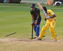 Amit Verma makes a mess of M Prabhu's stumps, Karnataka v Tamil Nadu, Syed Mushtaq Ali Trophy, Visakhapatnam, April 5, 2014