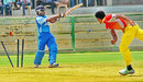 B Ayyappa loses his off stump to Basil Thampi, Andhra v Kerala, Syed Mushtaq Ali Trophy, Vizianagaram, April 5, 2014