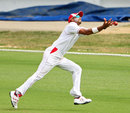 Rayad Emrit failed to hold on to a catch, Trinidad & Tobago v Jamaica, Regional Four Day Competition, 2nd day, Port of Spain, April 5, 2014