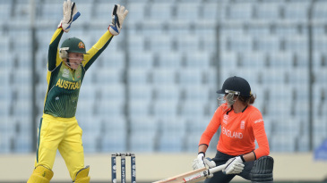 Sarah Taylor was given lbw playing a reverse sweep