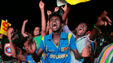 Sri Lanka fans celebrate their team's World T20 title triumph in Colombo