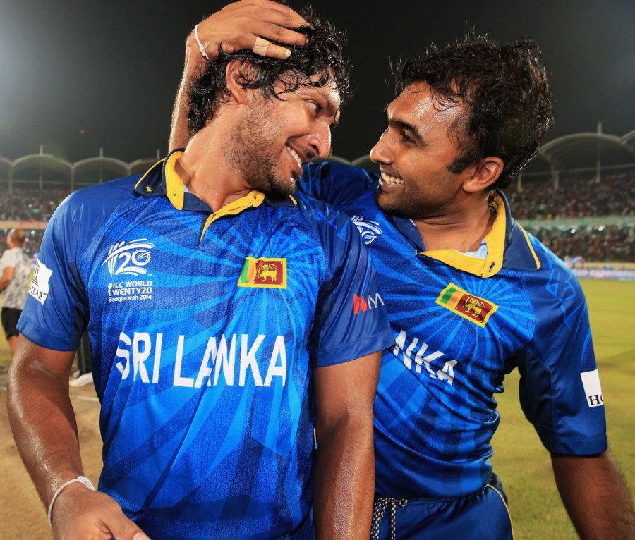 Joined at the hip: with long-time friend and team-mate Kumar Sangakkara