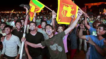 Cricket fans rejoice after Sri Lanka beat India in the World T20 final