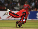 Dave Mohammed goes head over heels, Somerset v Trinidad and Tobago, Champions League T20, Group A, Bangalore, October 12, 2009
