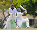 Carlton Baugh goes over the top, Combined Campuses and Colleges v Jamaica, Regional Four Day Competition, Jamaica, 2nd day, April 13, 2014