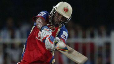 Yuvraj Singh lays into a short ball