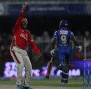 Murali Kartik trapped Abhishek Nayar lbw, Kings XI Punjab v Rajasthan Royals, IPL 2014, Sharjah, April 20, 2014