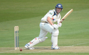 Gary Ballance looked comfortable in passing fifty, Yorkshire v Northamptonshire, County Championship, Division One, Headingley, 1st day, April 20, 2014