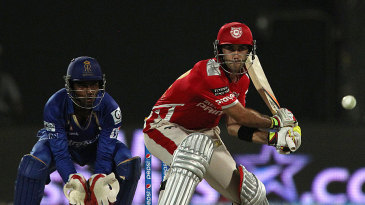 Glenn Maxwell shapes to play the reverse sweep