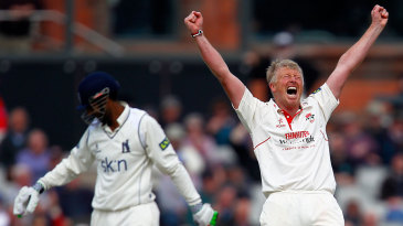 Glen Chapple claimed his 900th first-class wicket for Lancashire when he removed Varun Chopra