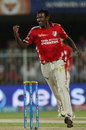 L Balaji delivered a double blow in the fifth over, Kings XI Punjab v Sunrisers Hyderabad, IPL 2014, Sharjah, April 22, 2014