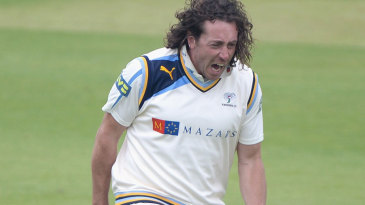 Ryan Sidebottom lets out a celebratory roar