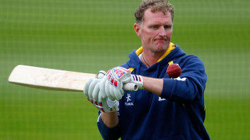 Warwickshire coach Dougie Brown conducts a training exercise