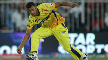 Ishwar Pandey fields the ball
