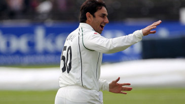 Saeed Ajmal took two wickets in two balls in his first game since arriving, Worcestershire v Derbyshire, County Championship, Division Two, New Road, April 28, 2014