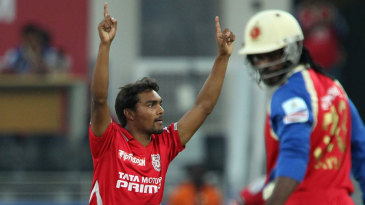 Sandeep Sharma dismissed Chris Gayle in the second over of the innings