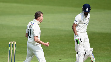 Peter Siddle removed Varun Chopra in his first over and finished with three wickets