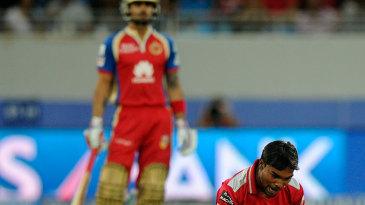 Sandeep Sharma exults after removing Virat Kohli
