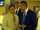 Sunil Gavaskar and IPL COO Sundar Raman at a match, IPL 2014, Dubai, April 30, 2014