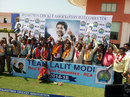 Lalit Modi's supporters celebrate after he is named Rajasthan Cricket Association president, Jaipur, May 6, 2014