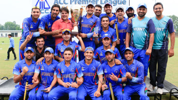 The Afghanistan team celebrate their win