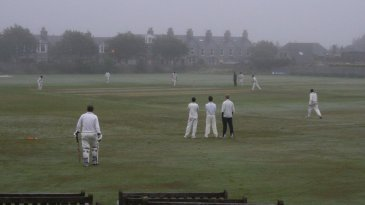 A haar-affected club match at Mannofield