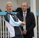 What did Bumble say? David Lloyd chats with Peter Moores, Scotland v England, only ODI, Aberdeen, May 9, 2014