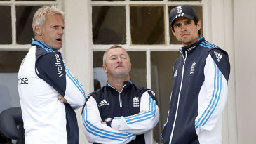 Running the show: Peter Moores, Paul Farbrace and Alastair Cook