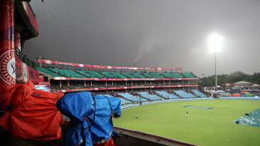Rain interrupted Delhi Daredevils 13 overs into their innings