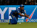 Apoorv Wankhade could not hold on to a catch, Mumbai Indians v Chennai Super Kings, IPL 2014, Mumbai, May 10, 2014