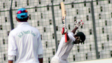 Imrul Kayes is ecstatic after reaching his maiden first-class double-century