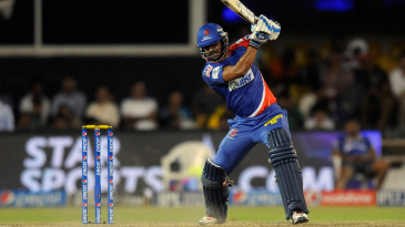 Manoj Tiwary played the sole hand for Delhi Daredevils with the bat