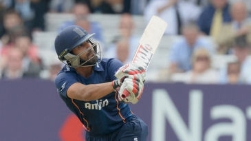 Ravi Bopara hits out for Essex against Middlesex on the first weekend of NatWest Blast