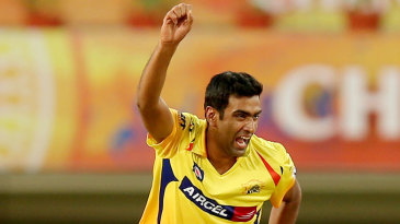 R Ashwin exults after taking a wicket
