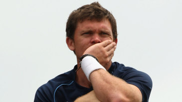 Lou Vincent watches his team's innings