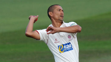 Alfonso Thomas, bowling for Somerset in 2011