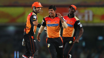 Karn Sharma took two wickets