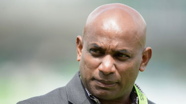 A grim Sanath Jayasuriya after Sri Lanka's opening loss