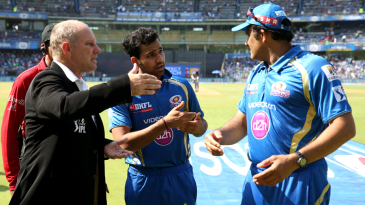 Match referee Andy Pycroft discusses Mumbai Indians' last-minute substitution of Praveen Kumar
