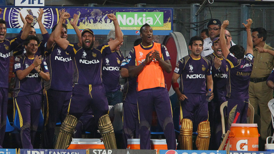 Yusuf Pathan leads his team's celebrations after claiming second place