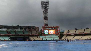 The first qualifier at Eden Gardens was postponed after torrential rain