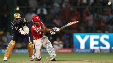 Wriddhiman Saha plays a slog-sweep