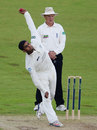 Ravi Patel in his delivery stride, Durham v Middlesex, County Championship, Division One, Chester-le-Street, June 2, 2014